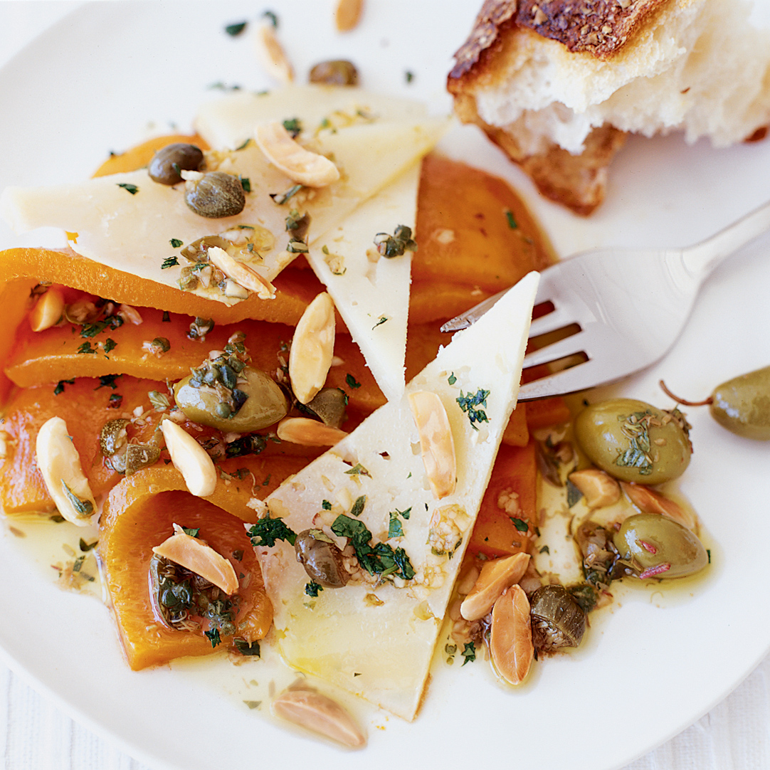 Sweet Pepper Salad with Manchego and Almonds