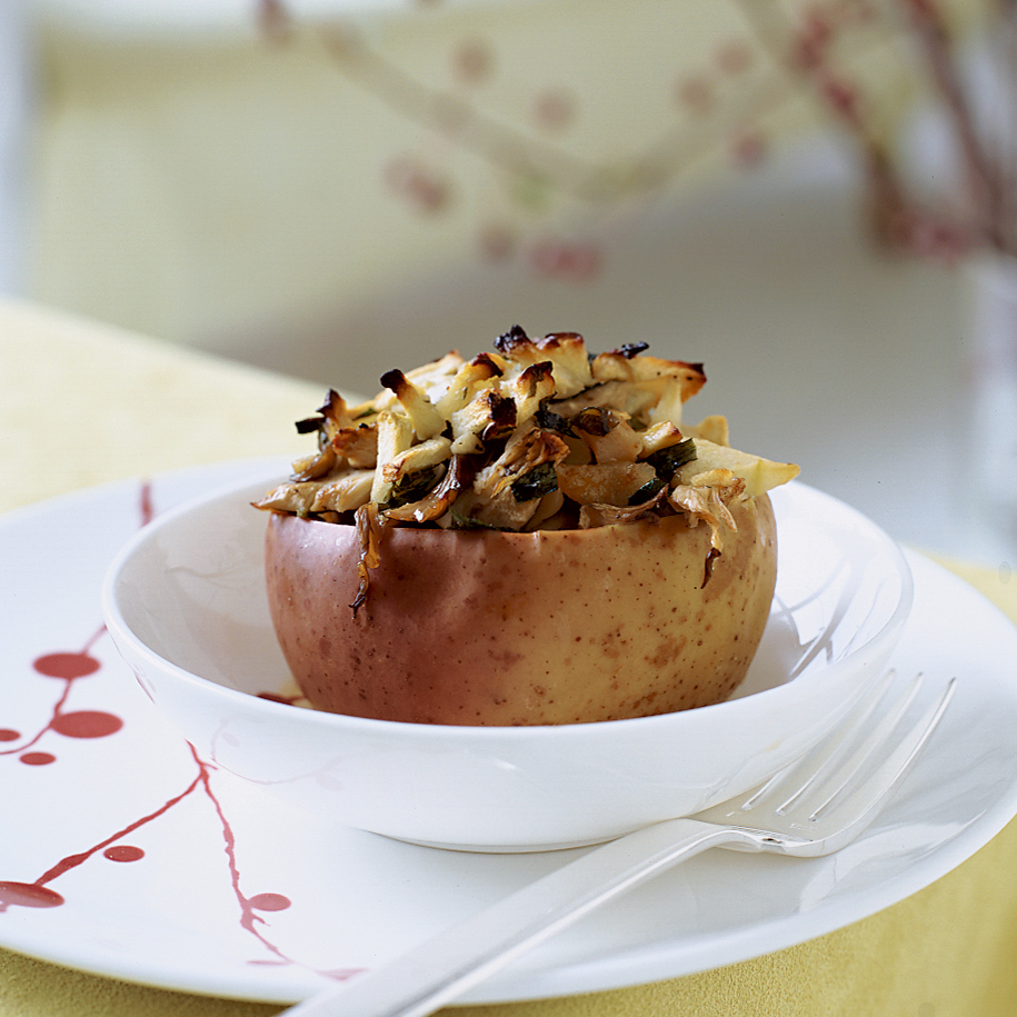 Baked Apples With Oyster Mushrooms