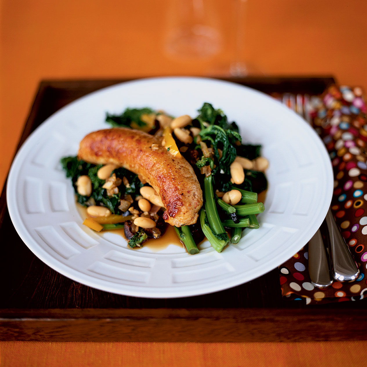 Garlicky Broccoli Rabe with Sausage and Peppers