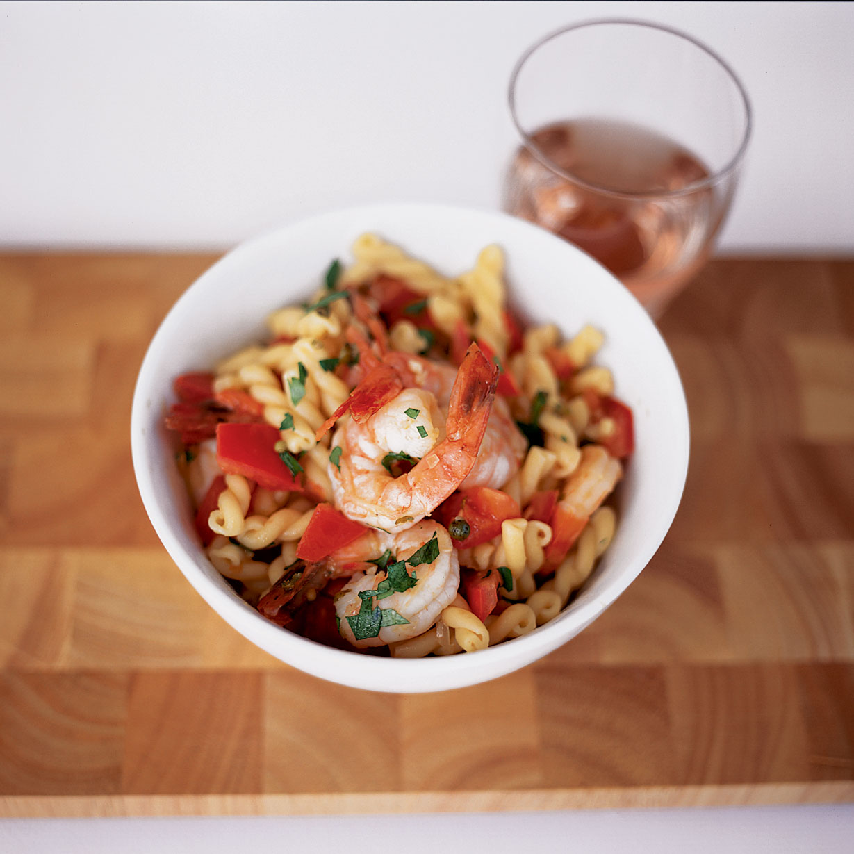 Gemelli with Shrimp and Green Peppercorns