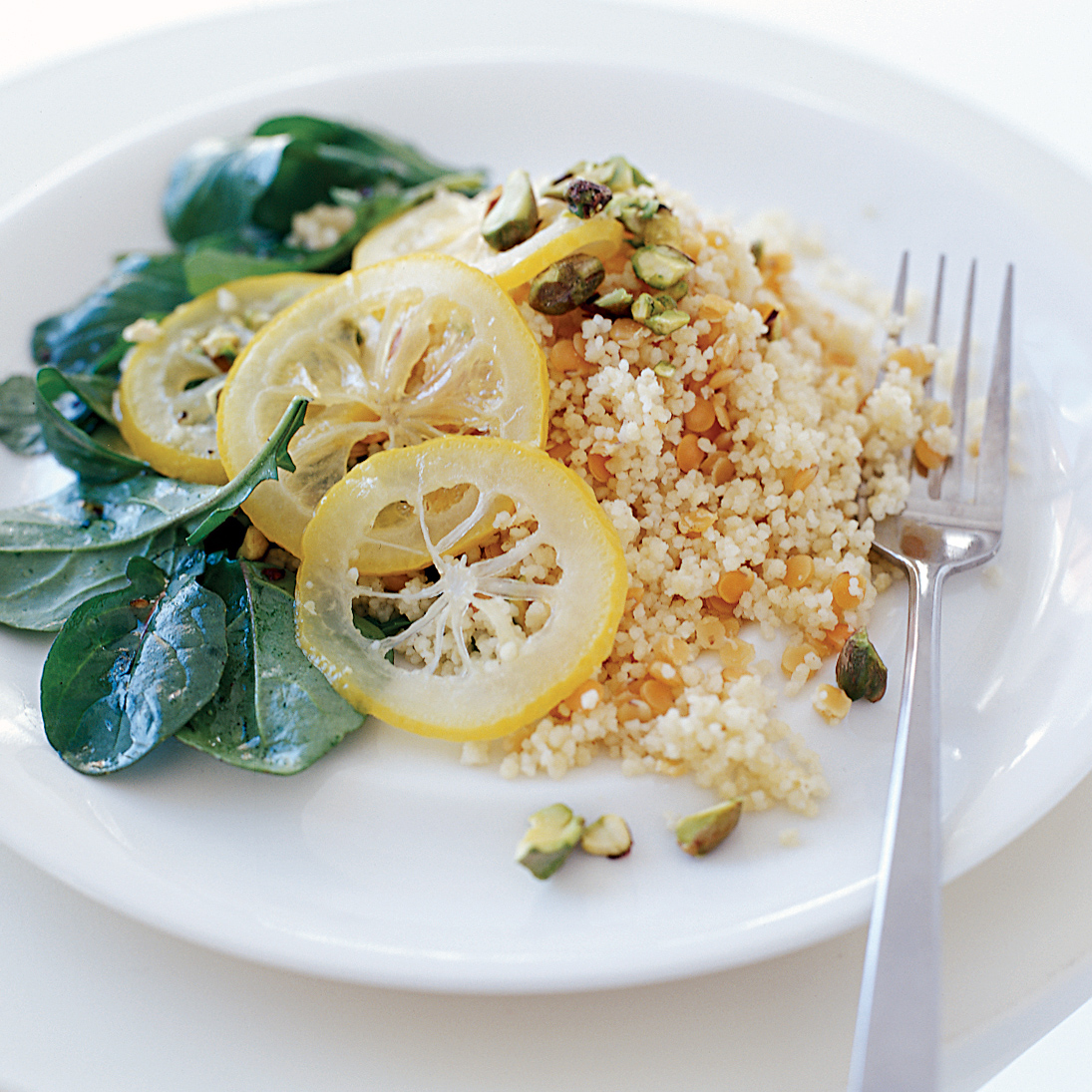 Couscous with Red Lentils and Easy Preserved Lemons