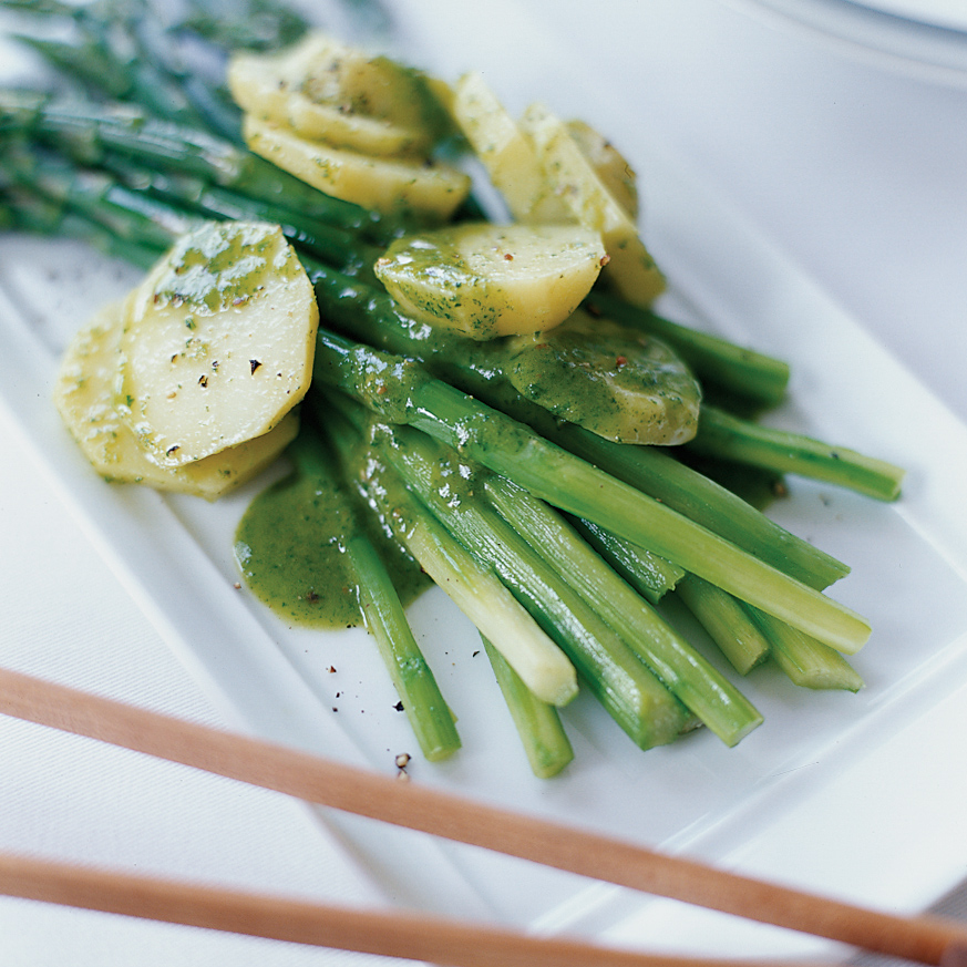 Asparagus and Potato Salad with Riesling-Tarragon Vinaigrette