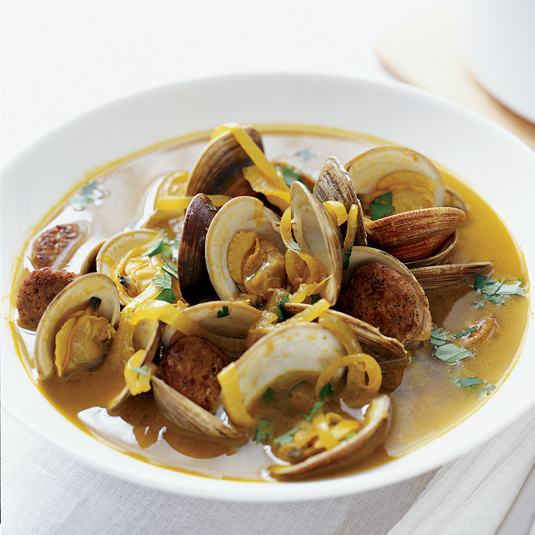 Clams with Spicy Sausage