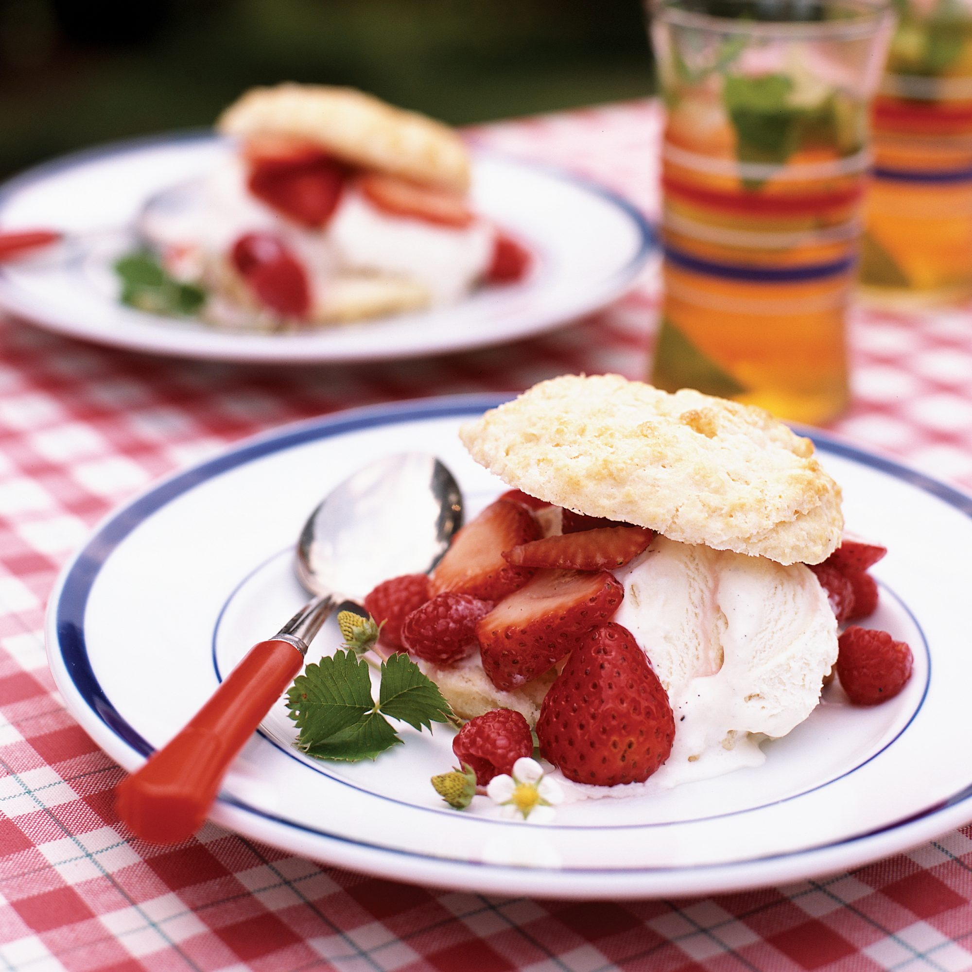 Gramma's Buttermilk Biscuits with Berries and Ice Cream