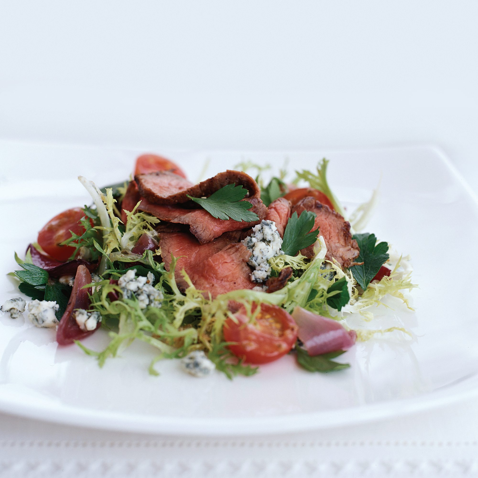 Grilled Chili-Rubbed Steak Salad with Roasted Shallot Vinaigrette