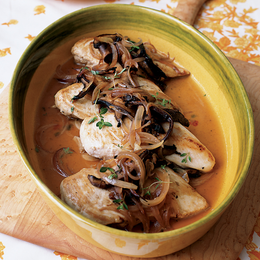 Chicken Breasts with Red Onions and Thyme