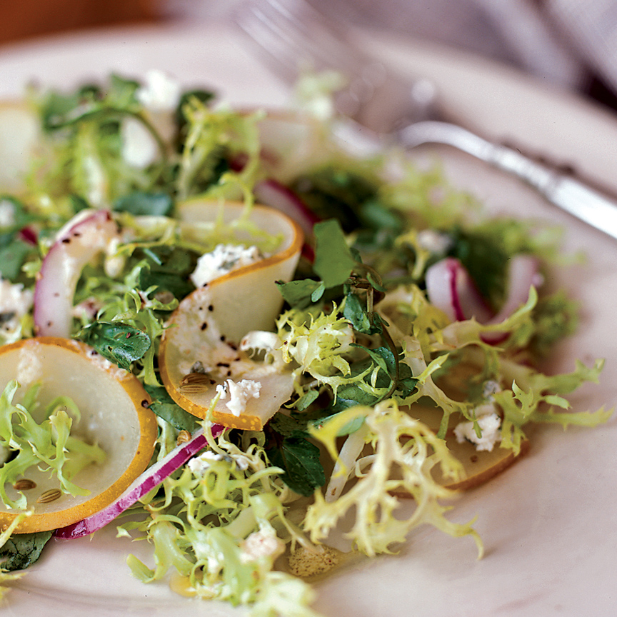 Pickled Asian Pear Salad with Creamy Lemon Dressing