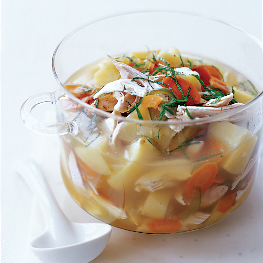 Chicken and Potato Soup with Lemongrass