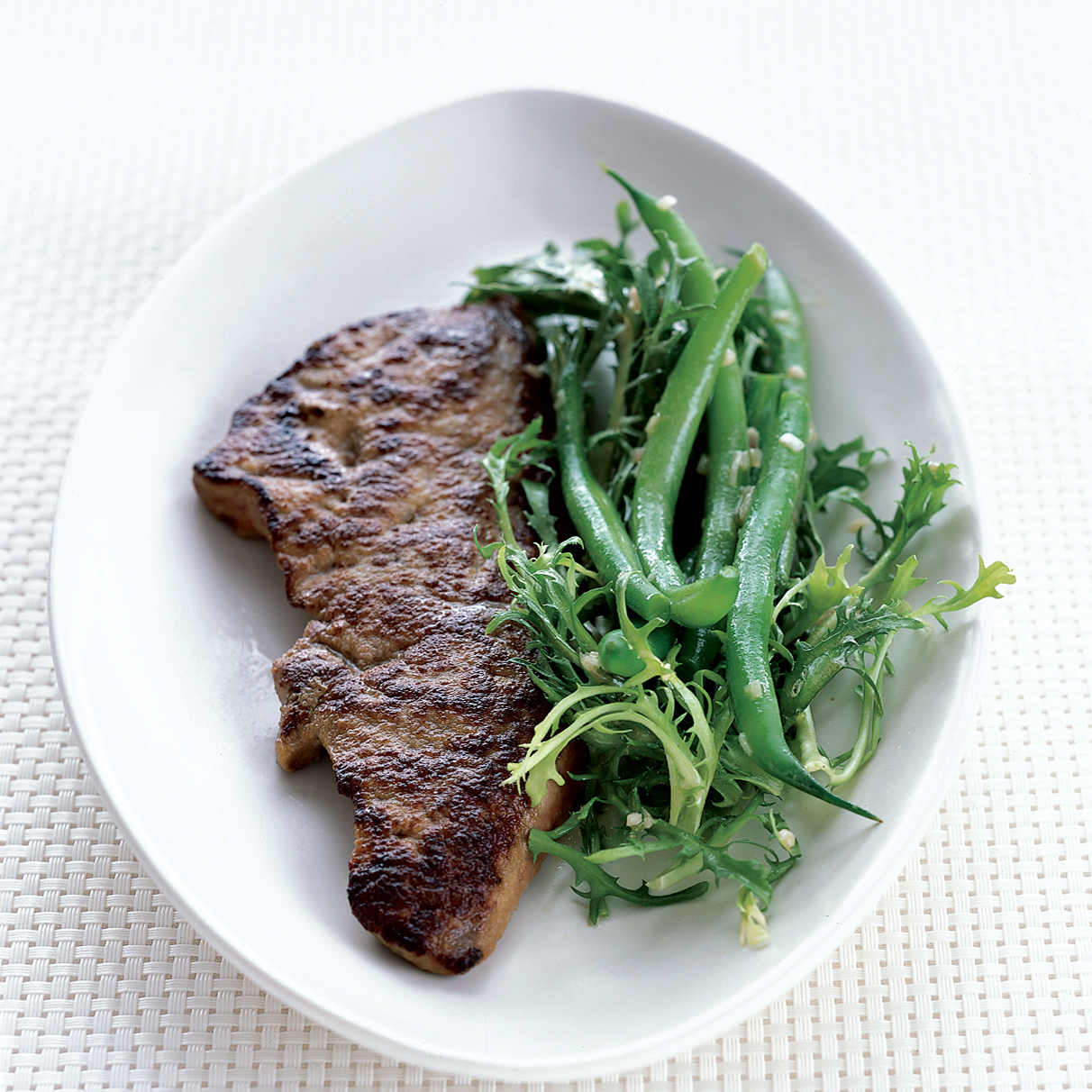 Calf's Liver with Green Beans