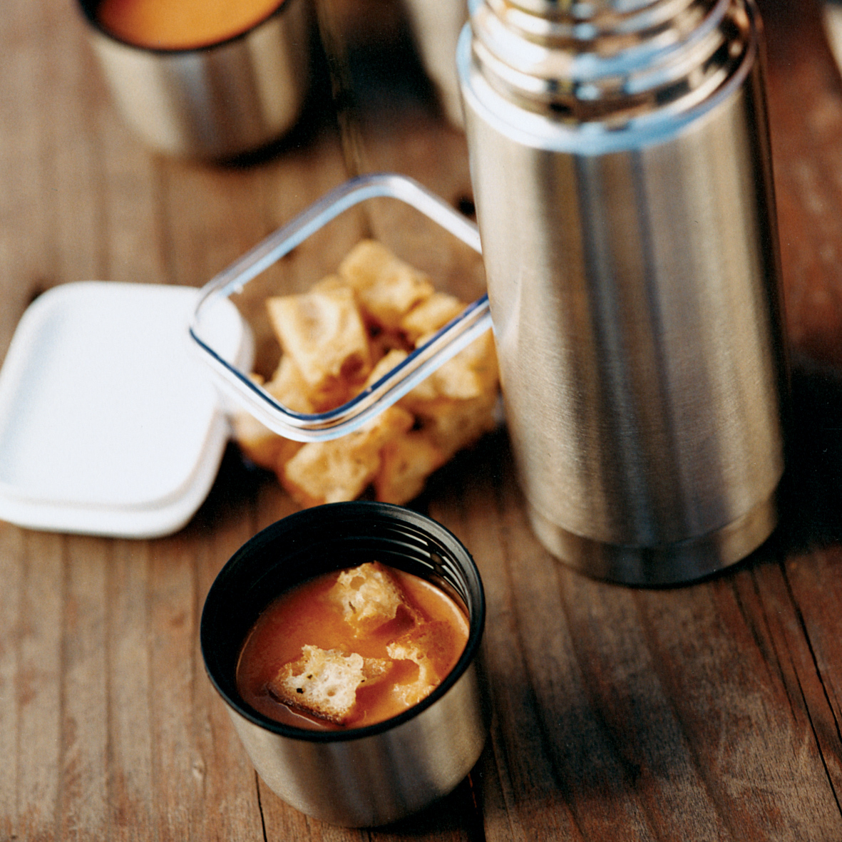 Tangy Tomato Soup With Tarragon Croutons