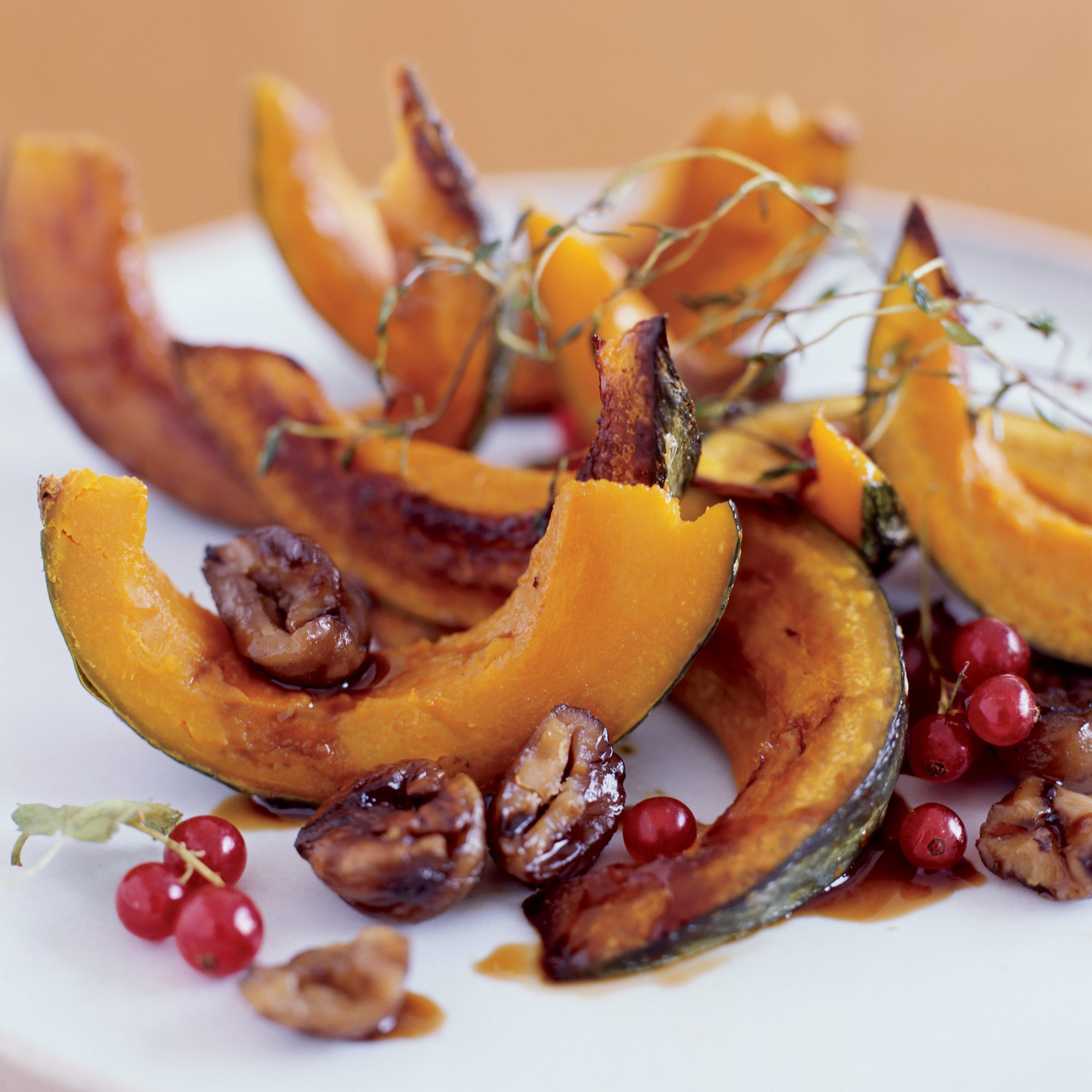Roasted Squash with Chestnuts and Pomegranate