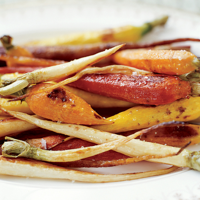 Tricolor Roasted Carrots and Parsnips