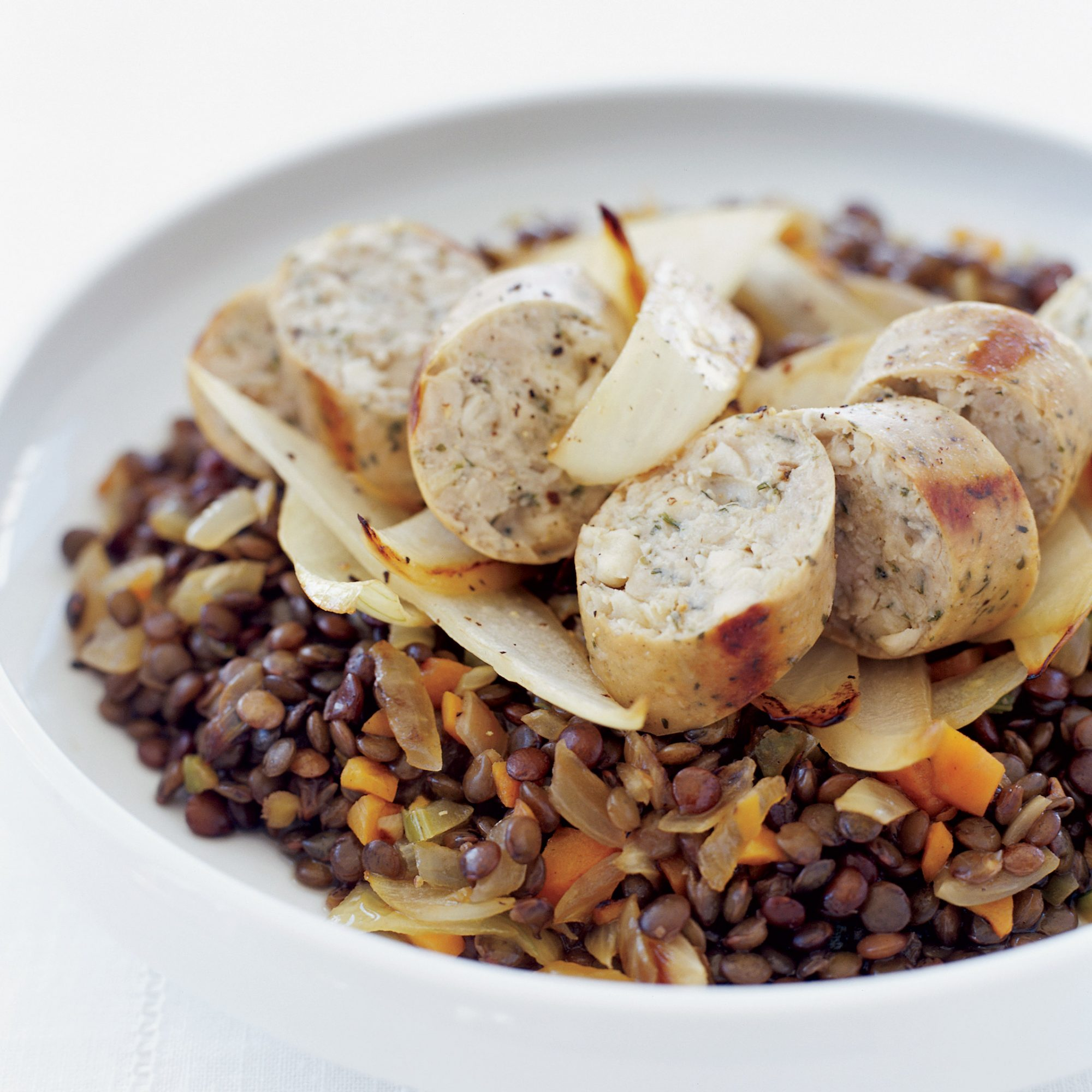 Lentils with Chicken Sausage
