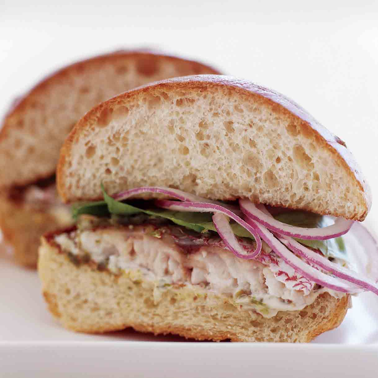 Spicy Snapper Sandwiches