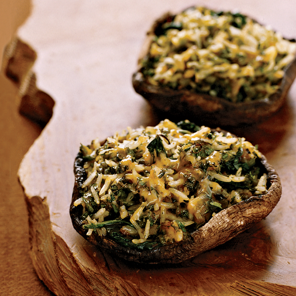Poblano-and-Cheddar-Stuffed Portobello Mushrooms