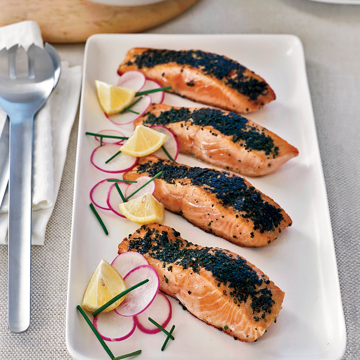 Chive Salmon with Remoulade