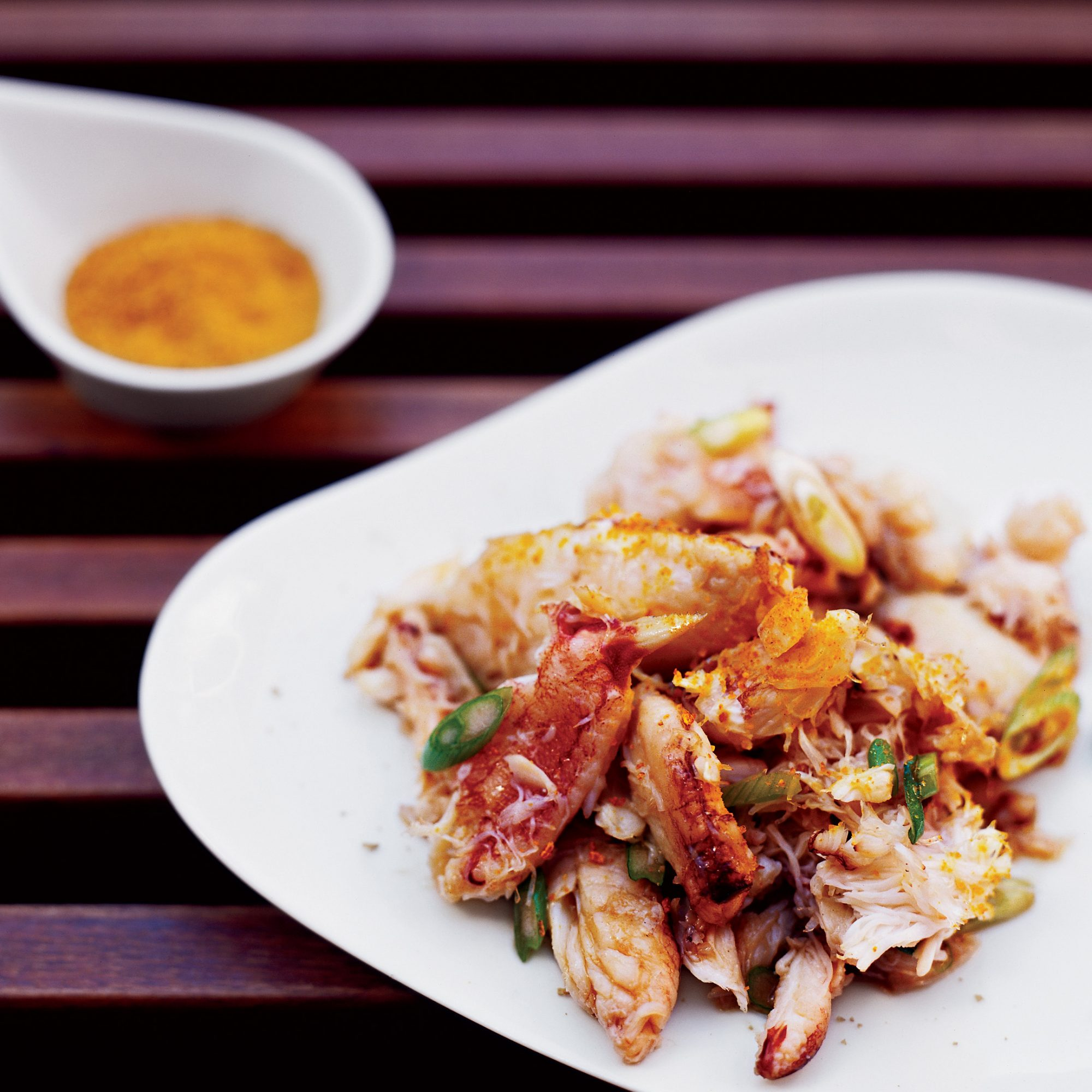 Crab Salad with Ginger and Dried Orange Peel