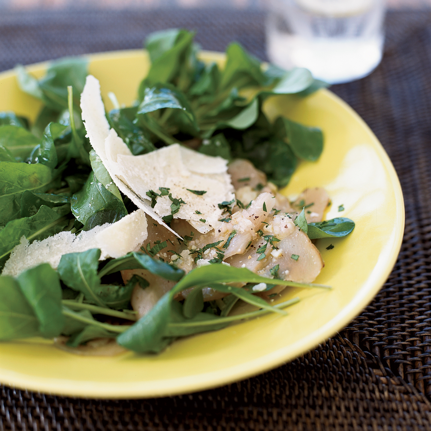 Shaved Sunchoke Salad with Parmesan and Arugula