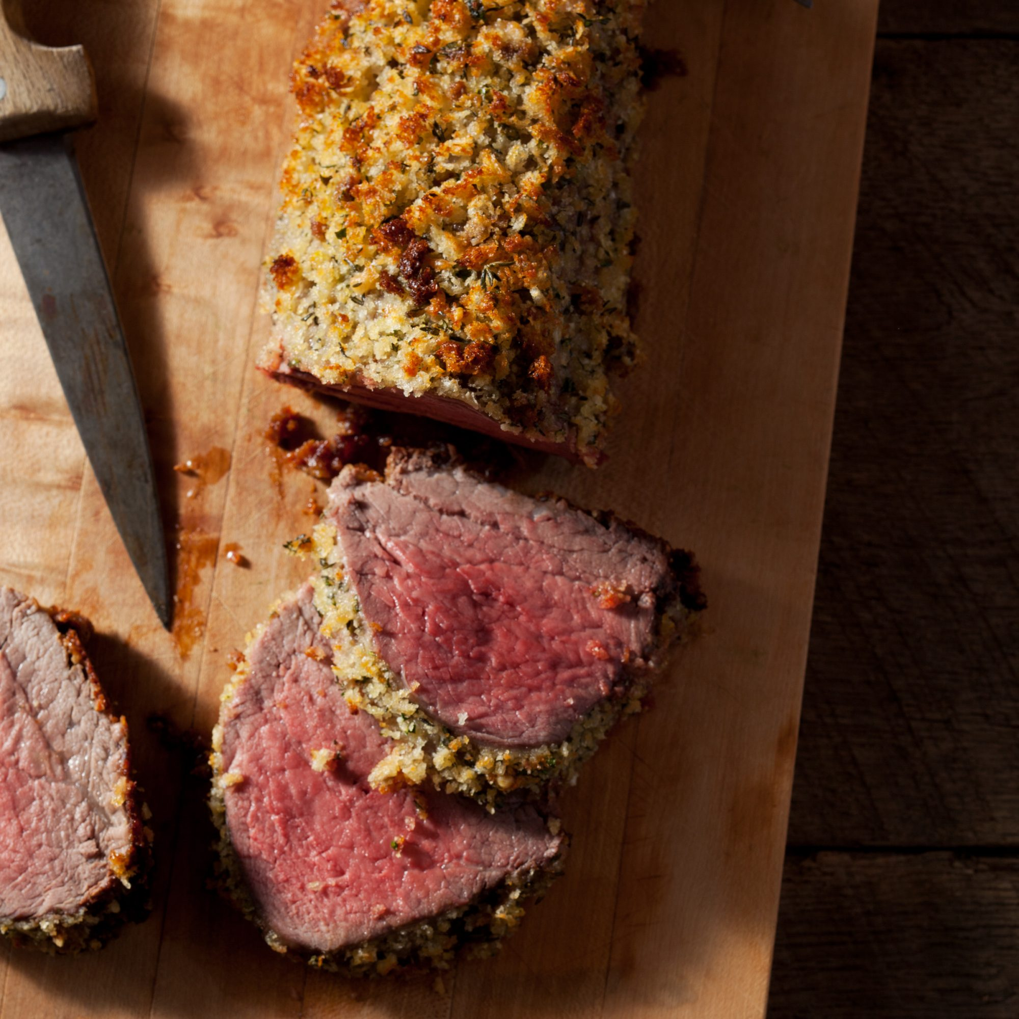 Parmesan and Herb-Crusted Beef Tenderloin