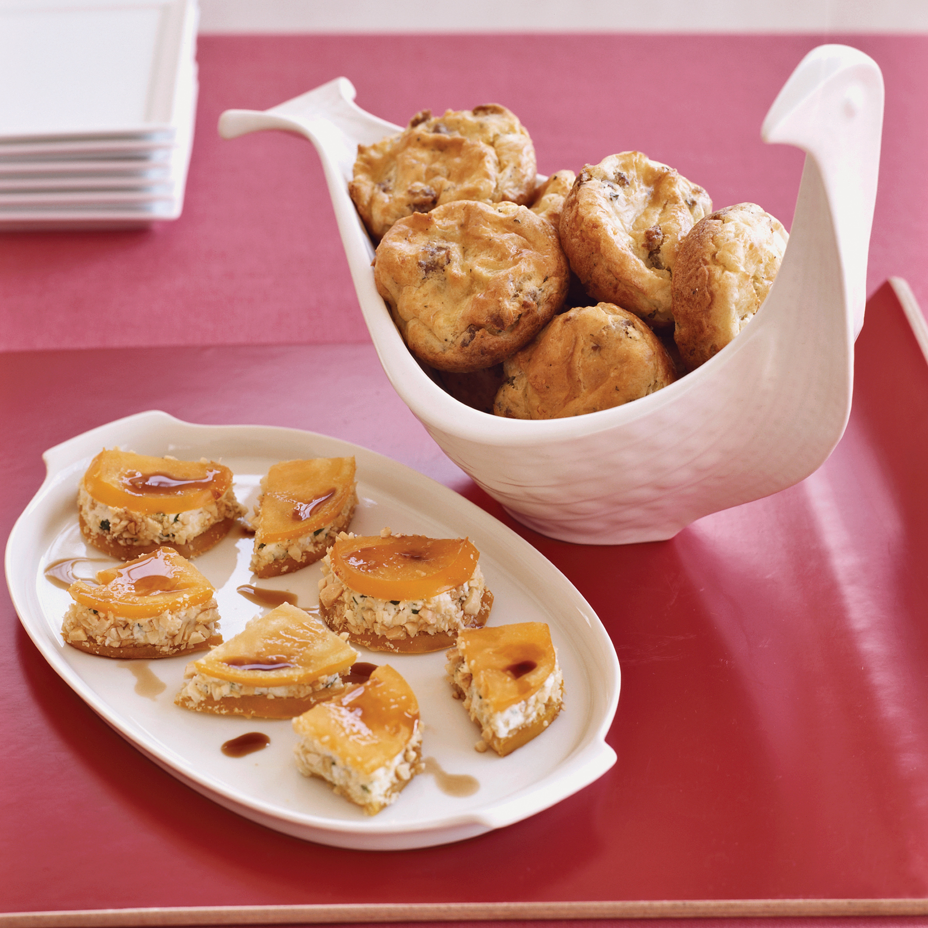 Persimmon-Goat Cheese Wedges