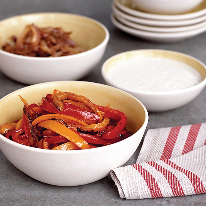Red Pepper and Walnut Dip with Fennel Spears