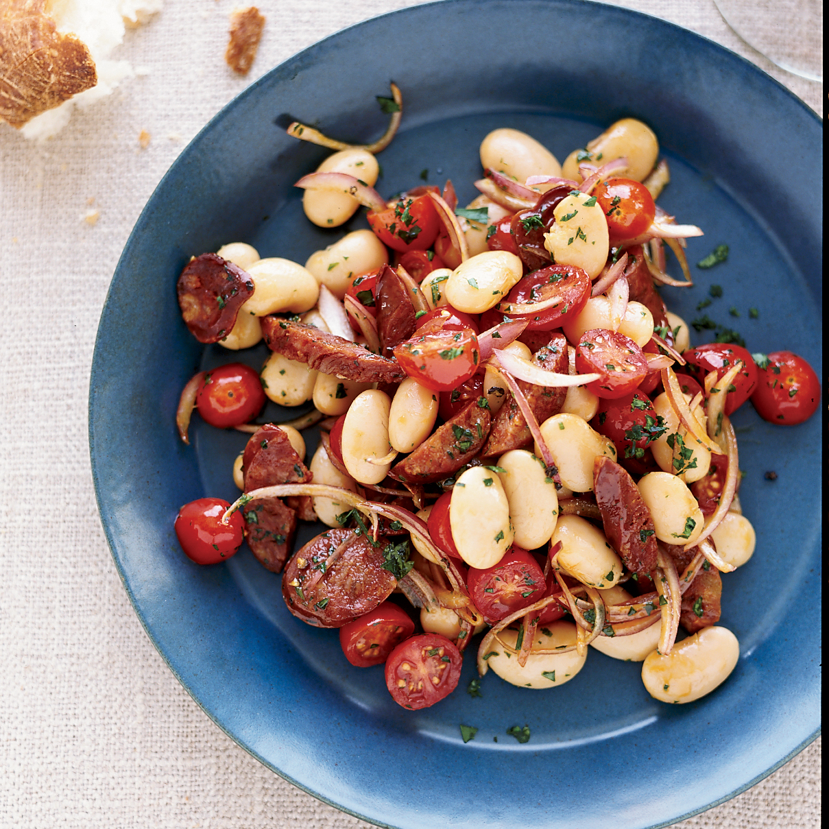 Butter Beans with Parsley, Tomatoes and Chorizo