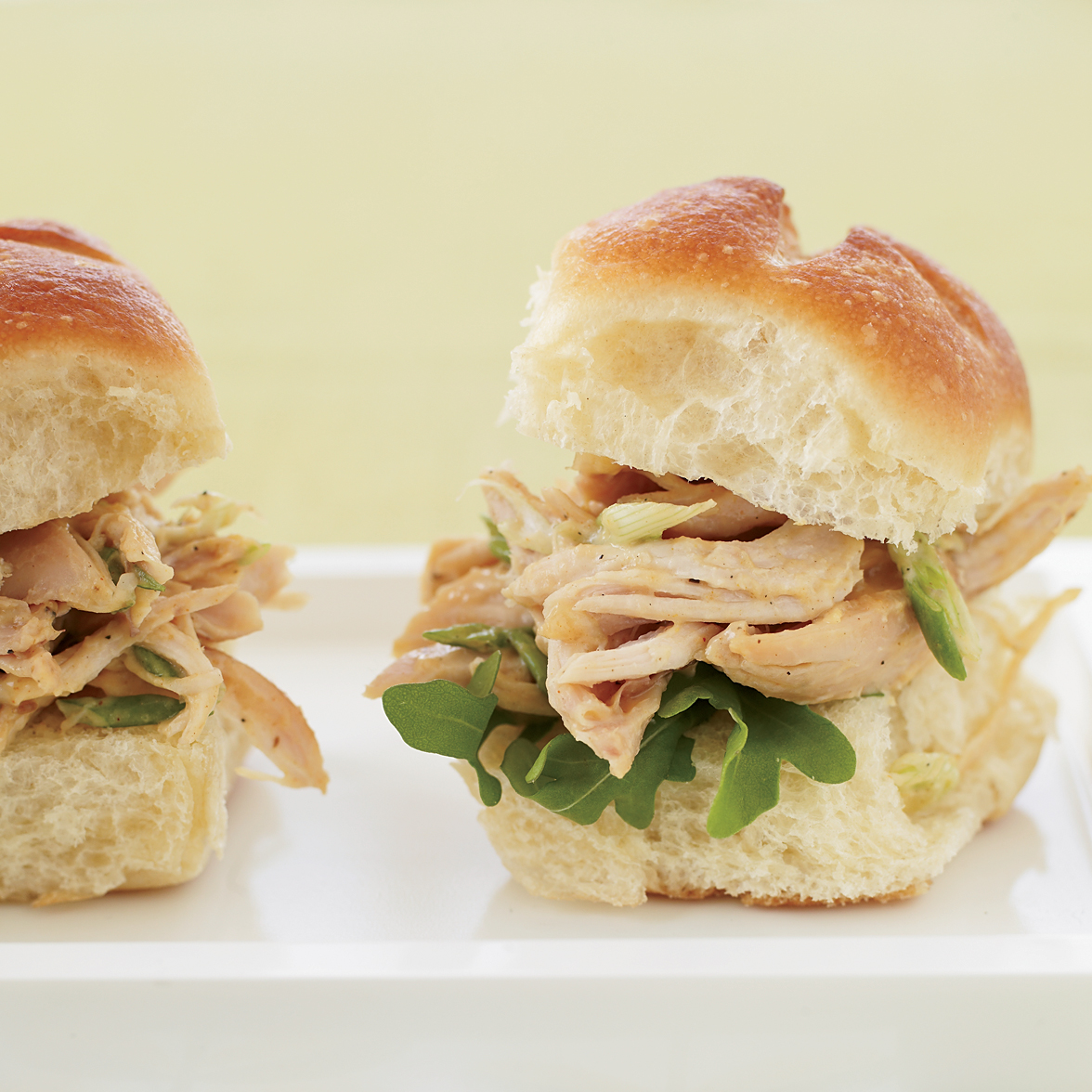 Indian Pulled-Chicken Sandwiches