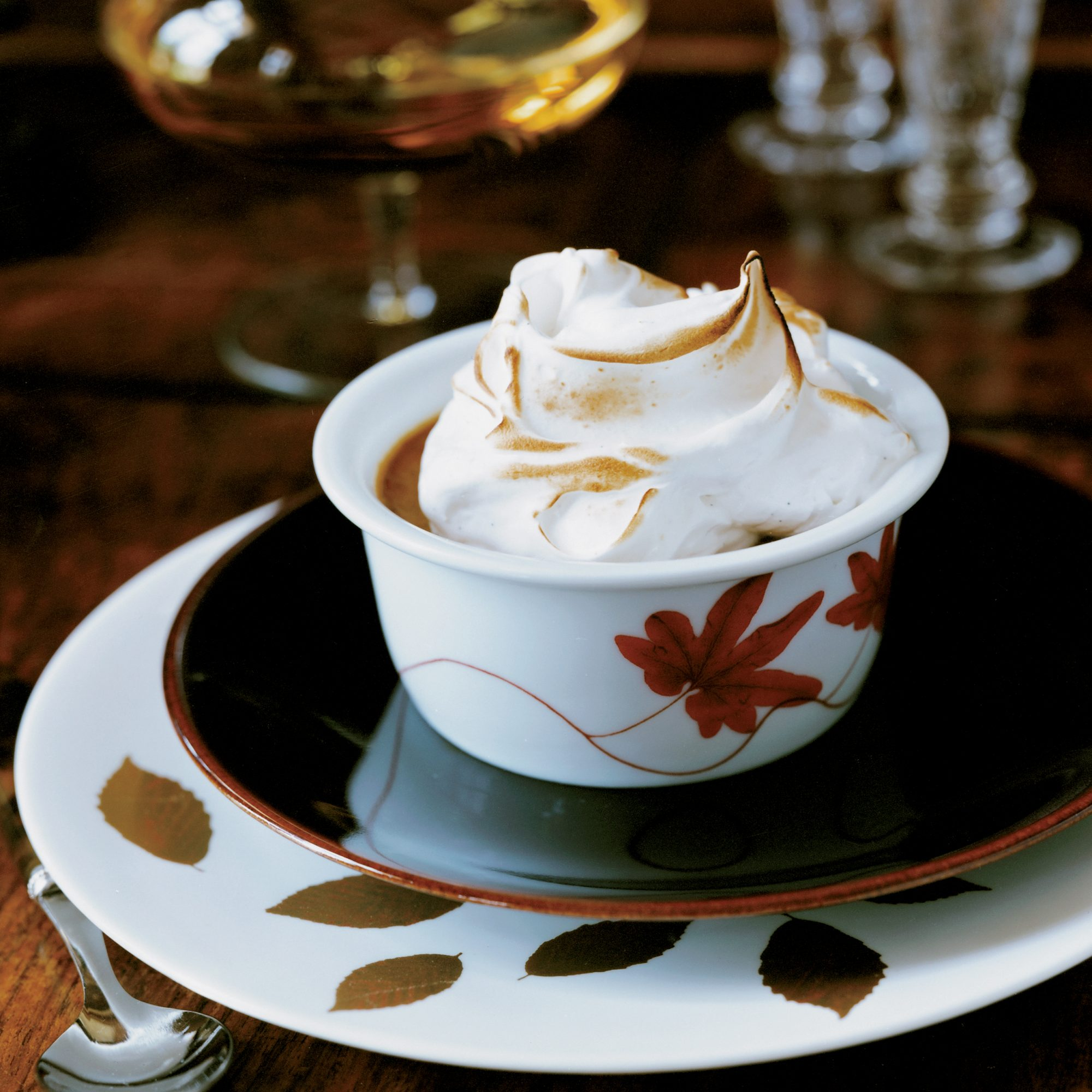 Pumpkin Pudding with Mile-High Meringue