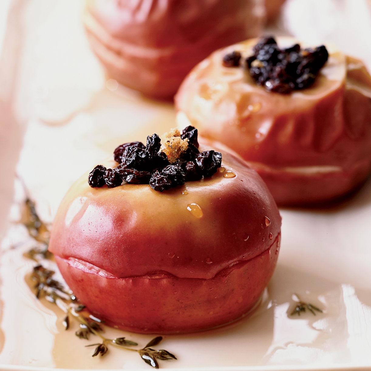 Baked Apples with Currants and Sauternes