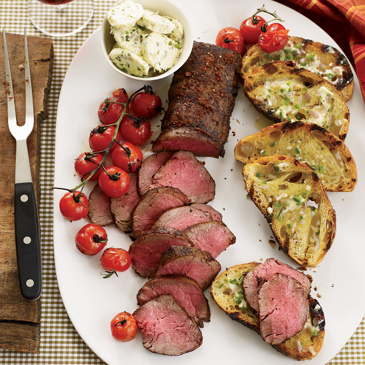 Grilled Beef Tenderloin with Ancho-Jalapeño Butter