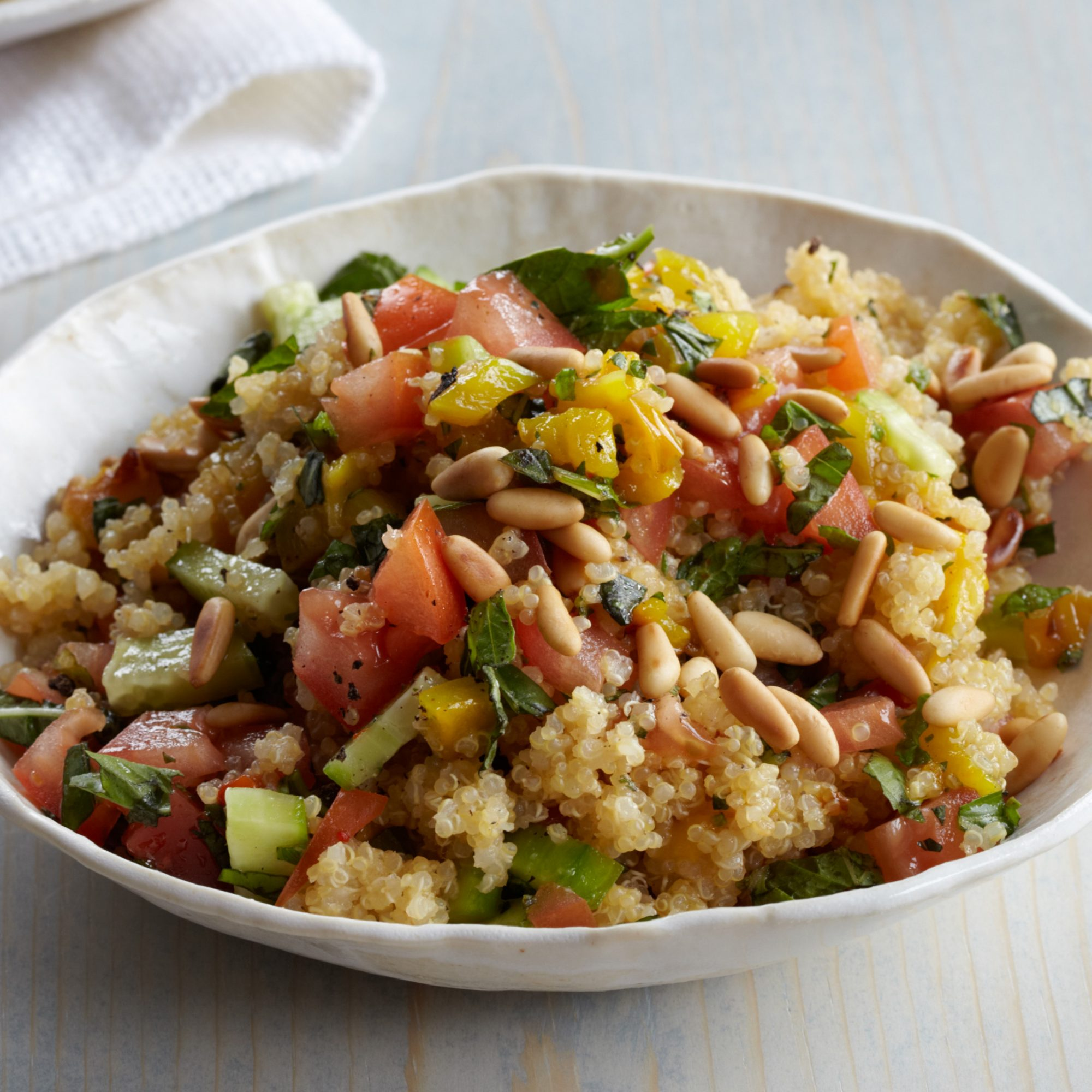 Quinoa Salad with Roasted Peppers and Tomatoes