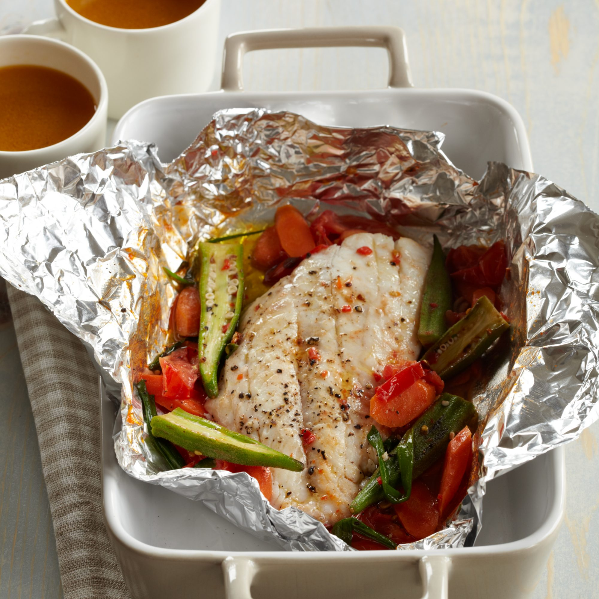 Steamed Red Snapper Packets