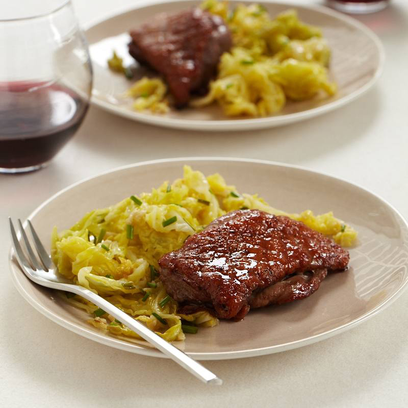 Honey-Glazed Duck with Savoy Cabbage
