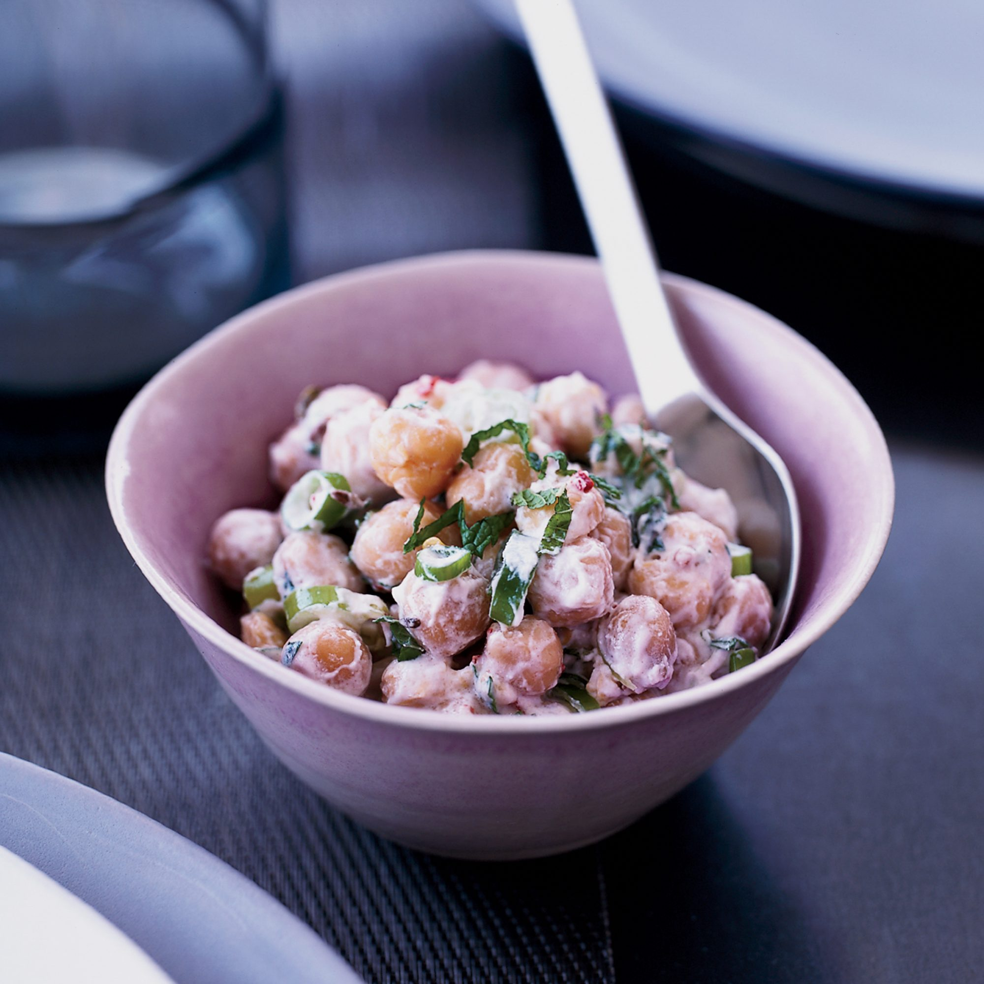 Indian-Spiced Chickpea Salad with Yogurt and Herbs