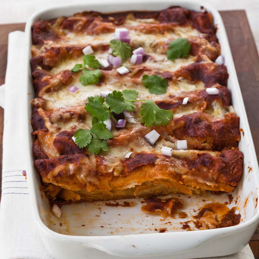 Red Chile-Chicken Enchiladas