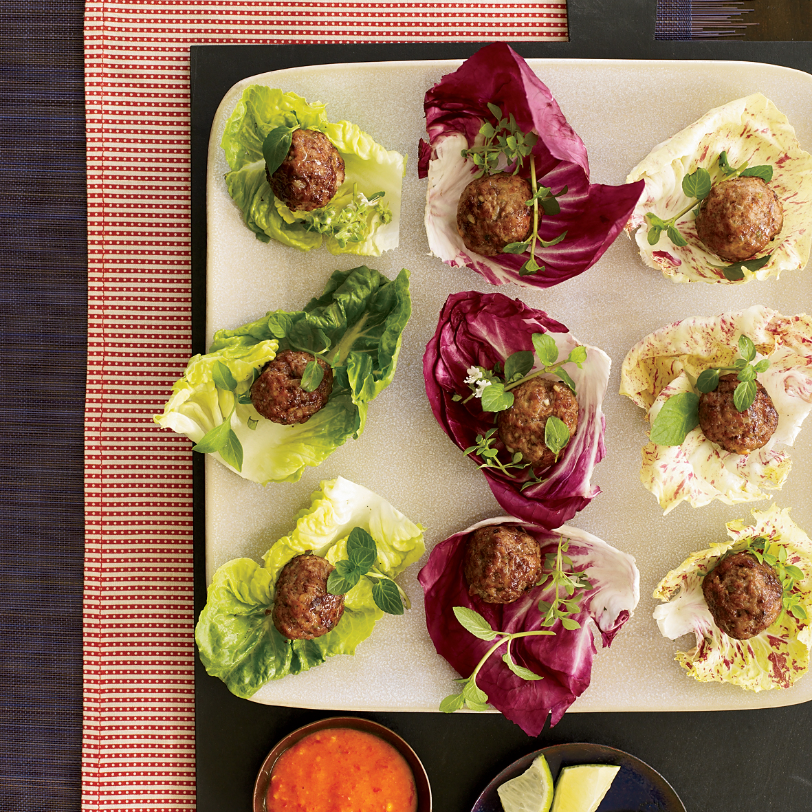 Meatball Wraps with Fish Sauce and Lime
