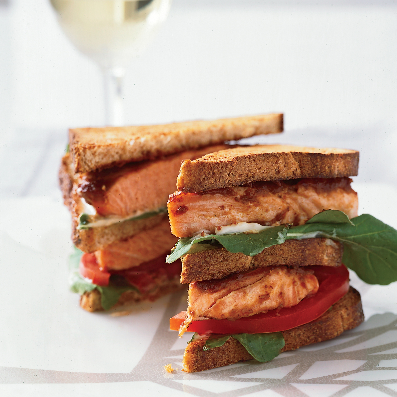 Salmon Club Sandwiches