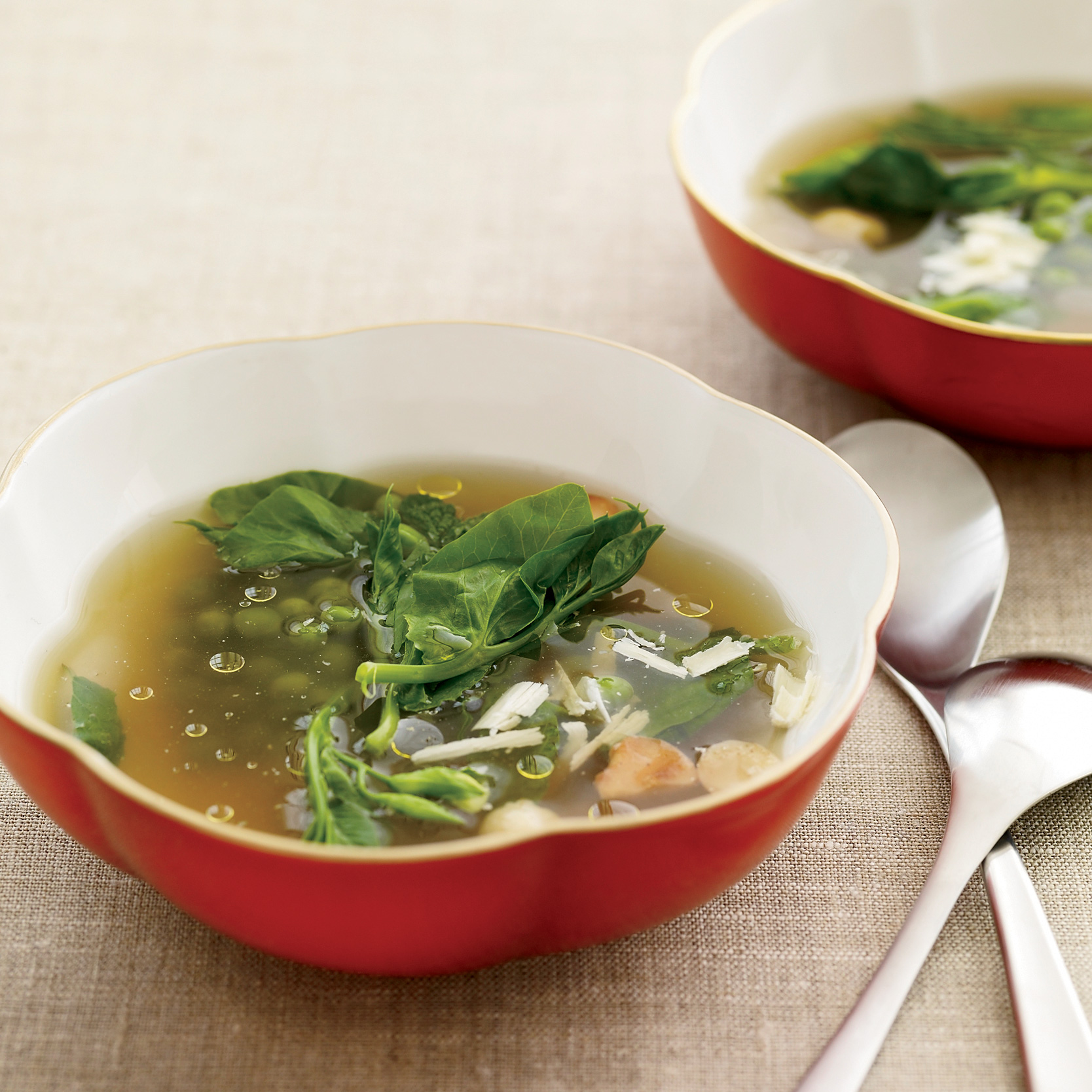 Pea Consommé with Mint