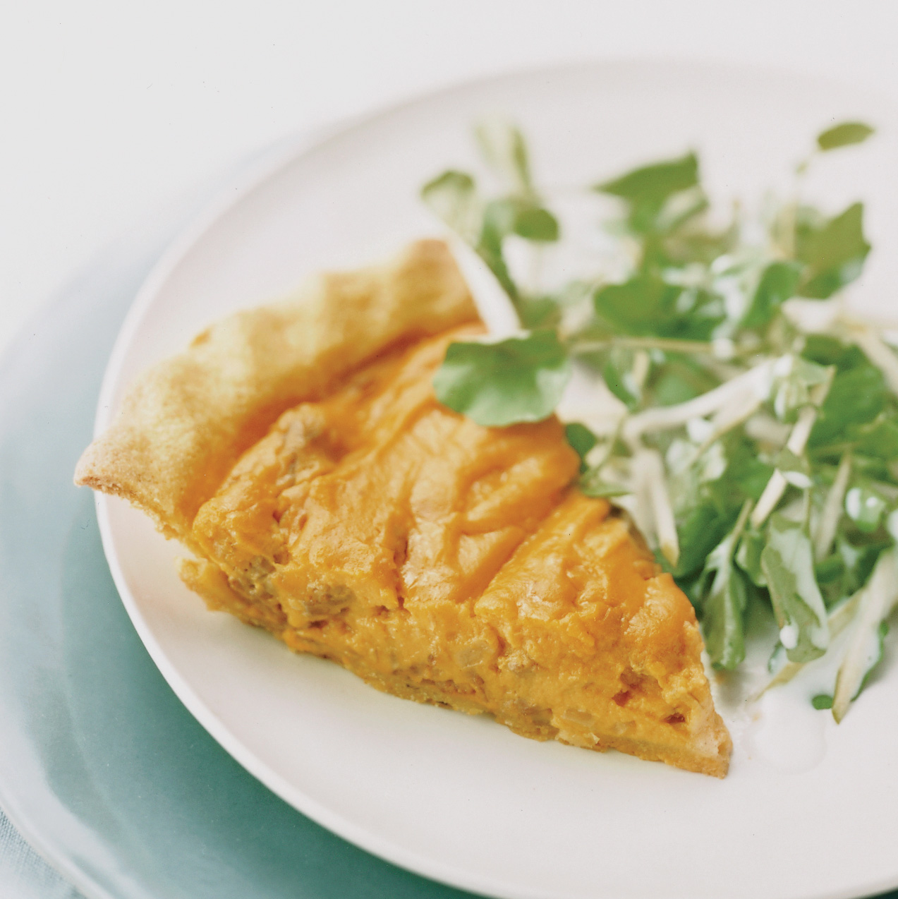 Andouille-and-Sweet Potato Pie with Tangy Apple Salad
