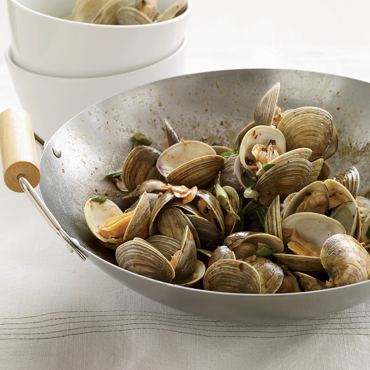 Clams with Pork and Golden Garlic