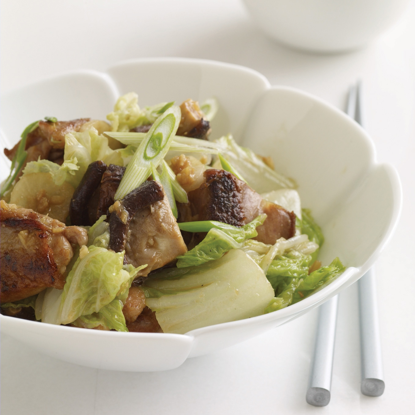 Miso-Ginger Chicken and Cabbage