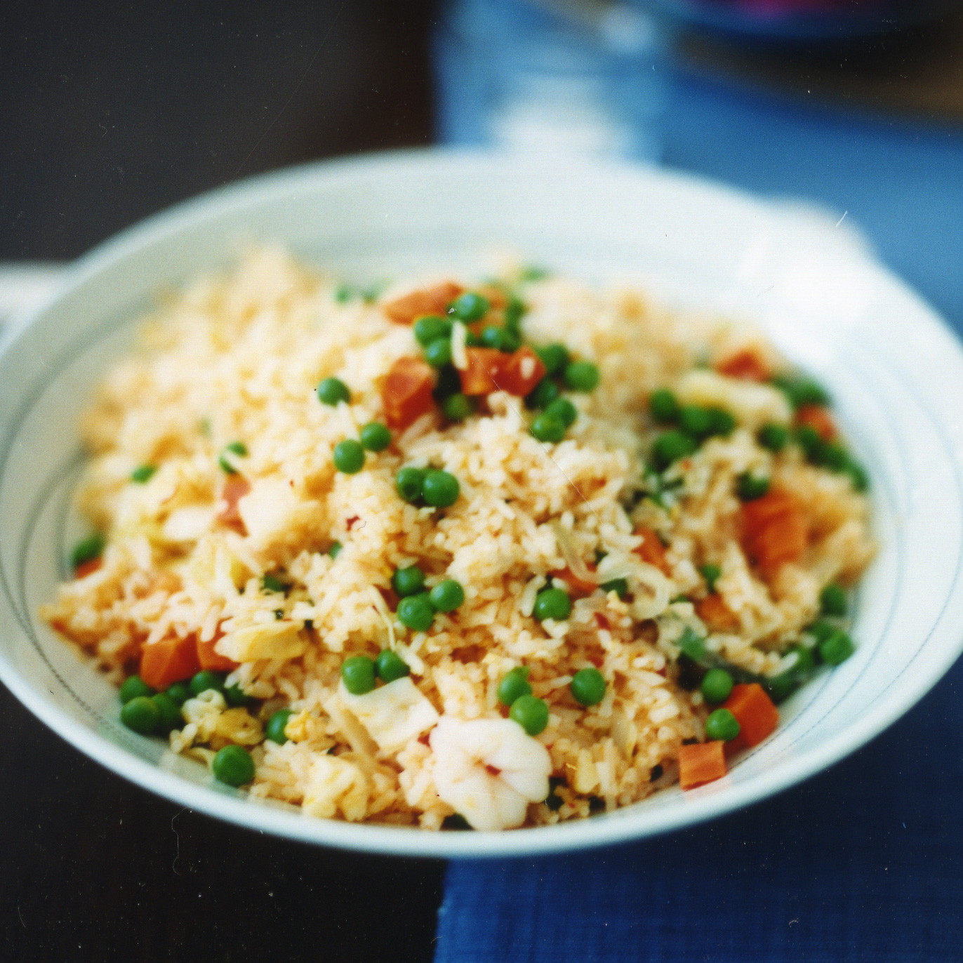 Shrimp Fried Rice with Coconut and Pickled Onions