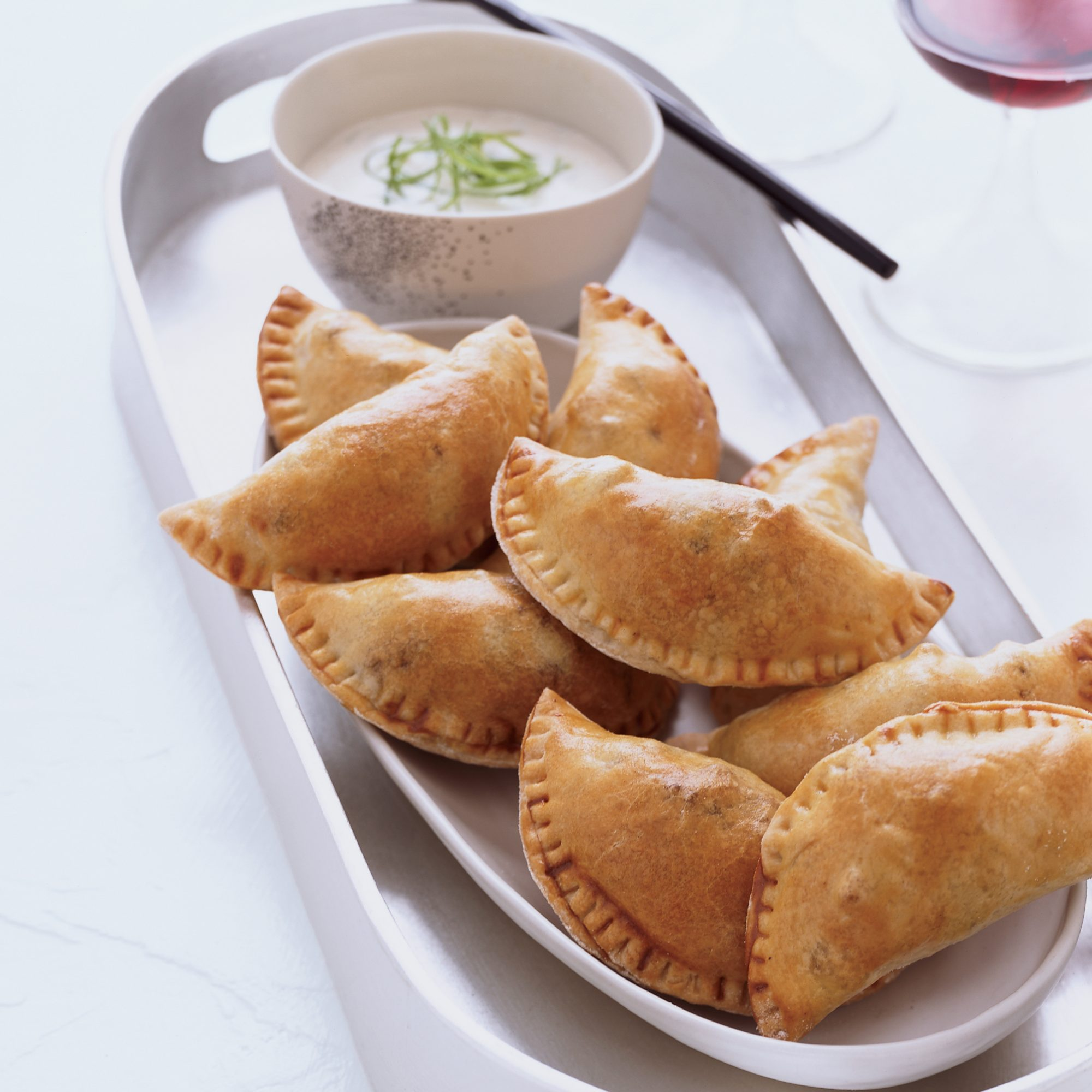 Natchitoches Meat Pies with Spicy Buttermilk Dip