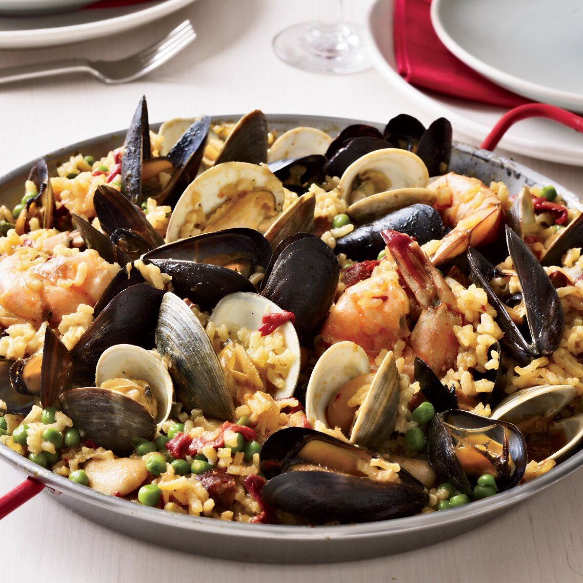 Paella Valenciana Recipe Seamus Mullen Food Wine