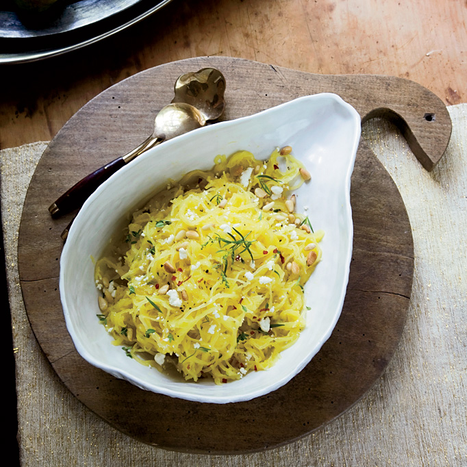 Spaghetti Squash Salad with Pine Nuts and Tarragon
