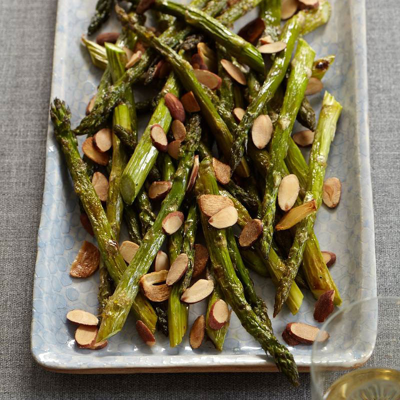 Roasted Asparagus with Almonds