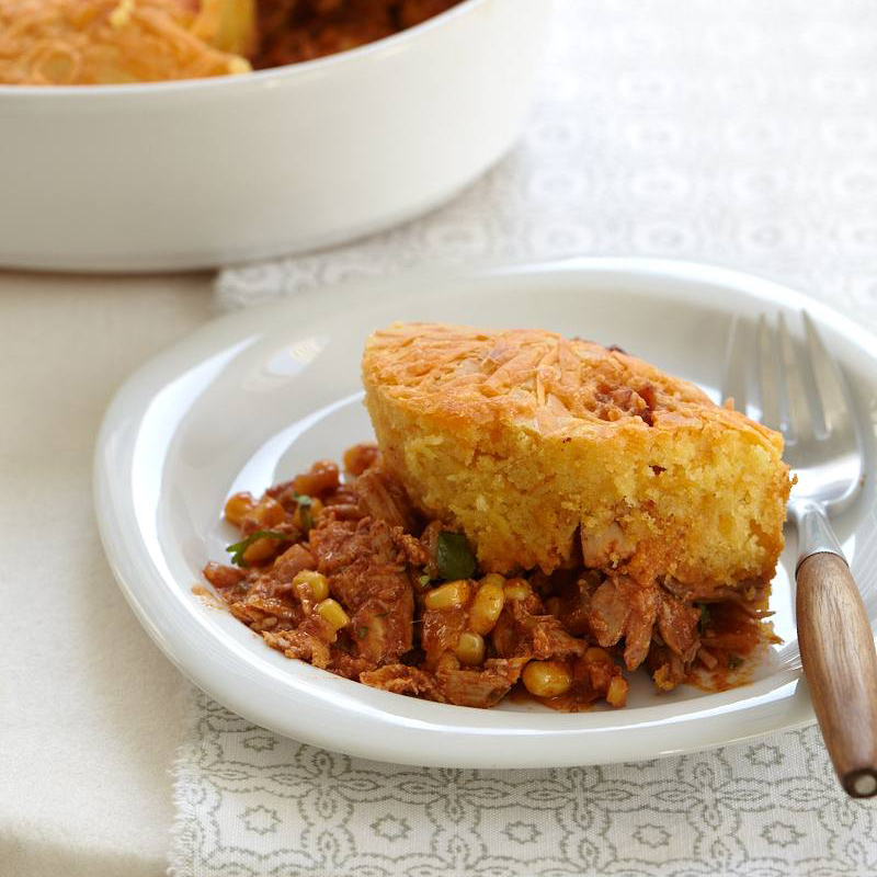 Chicken-Chili Tamale Pie