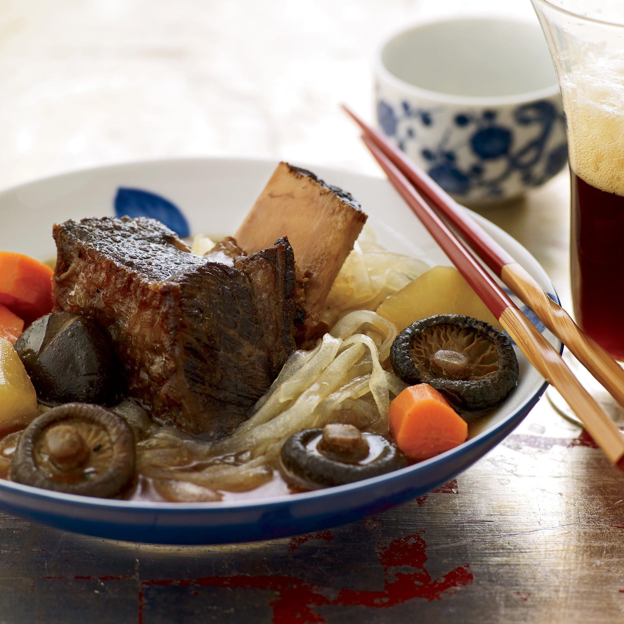 Braised Short Ribs with Daikon and Glass Noodles