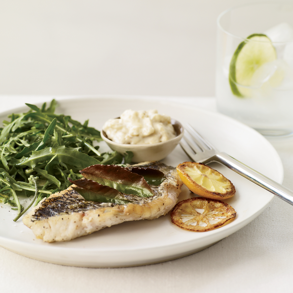 Herb-Broiled Fish with Lemon Aioli