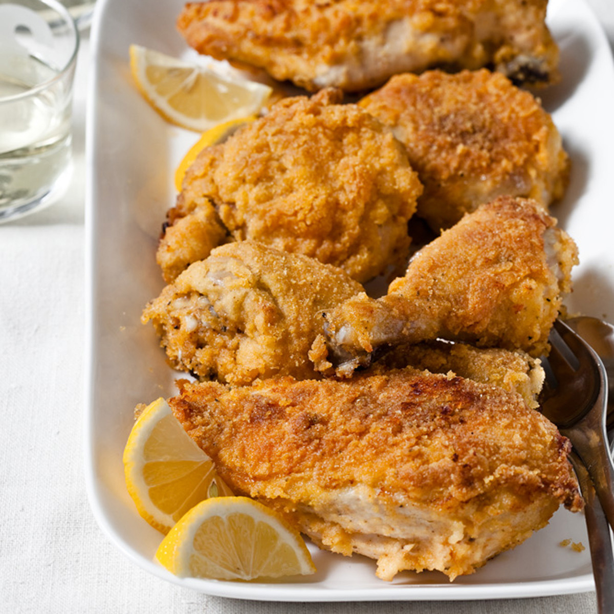 Oven-Fried Chicken with a Polenta Crust